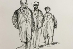 Trio Tegning (50x40 cm) kr 4000 ur