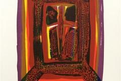 Rød ikon Litografi (26x19 cm) kr 1400 ur
