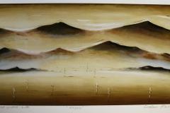Daggry Print, pastell, kritt 37x75 cm 3600 ur
