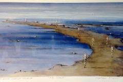 Gili Island Print, pastell, oljekritt 42x74 cm 3800 ur