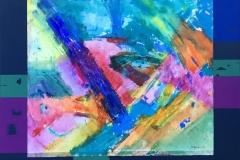 Elektrisk torden Akrylmaleri (71x82 cm) kr 7500
