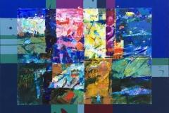 Vertikalt lys Akrylmaleri (40,5x52,5 cm) kr 3600