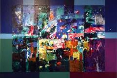 Glimt av lys Akrylmaleri (41x53 cm) kr 4400