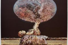 Sfaerisk dobbeltgjenger Litografi 43x46 cm 3800 ur