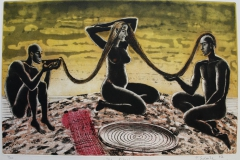 The ritual Etsning 45x70 cm 1900 ur