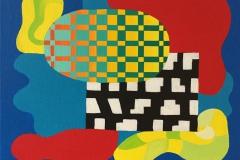 Assemblage III Akrylmaleri 38x45 cm kr 16000 ur