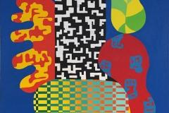 Assemblage VIII Akrylmaleri 100x81 cm kr 45000 ur