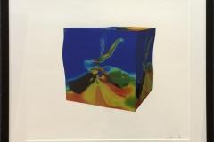 ButterflyCube blå Digigrafikk (46x52 cm) kr 5100 mr