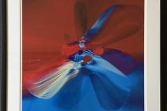 Butterflyeffect lys blå Digigrafikk (50x50 cm) kr 5100 mr