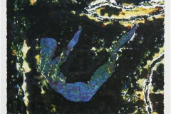 Stjernenatt Serigrafi 14x18 cm 800 ur
