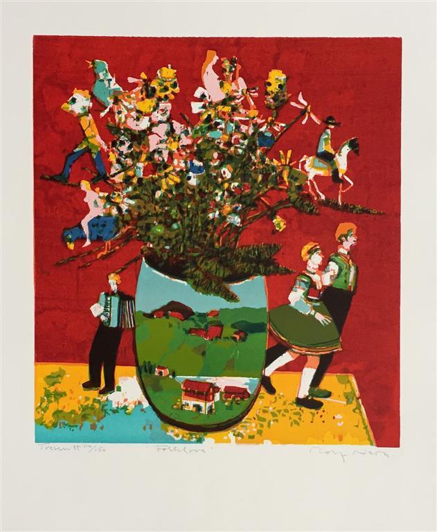 Folklore Tresnitt (45x40 cm) kr 2200 ur