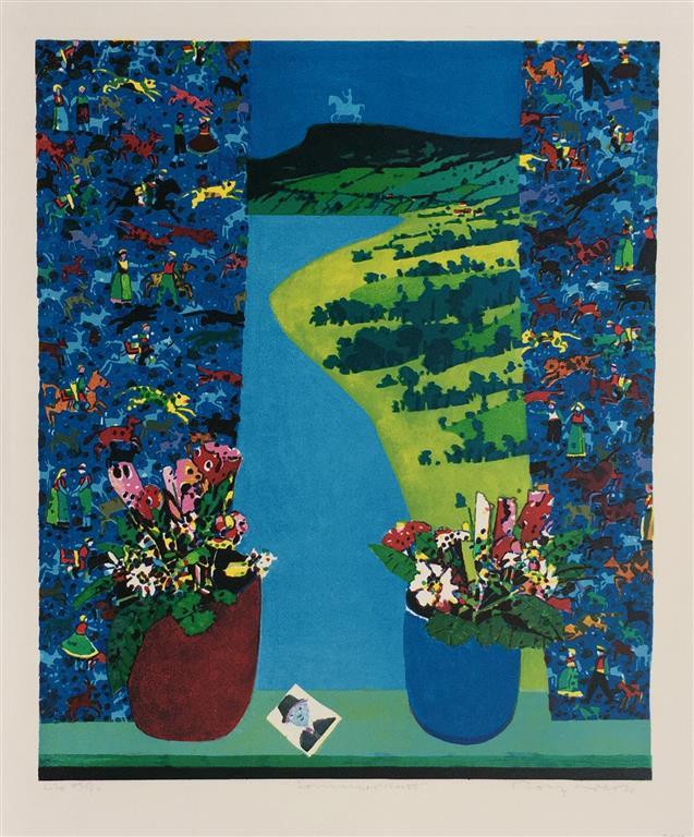Sommernatt Litografi (55x46 cm) kr 2600 ur