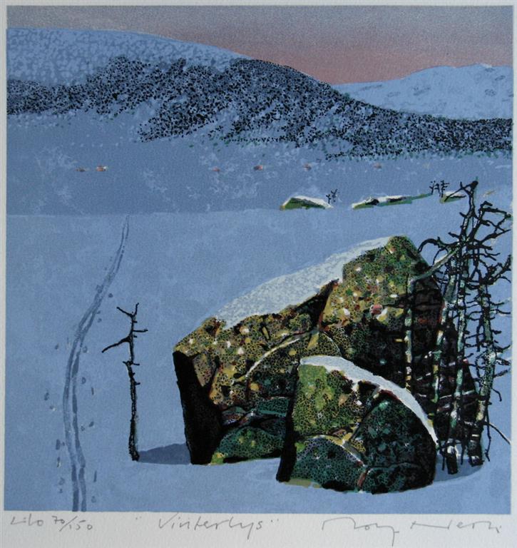 Vinterlys Litografi (24x24 cm) kr 1600 ur