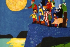 Månen står og lyser Litografi (27x25 cm) kr 1200 ur