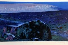 Morgenlys Litografi (24x55 cm) kr 2800 ur