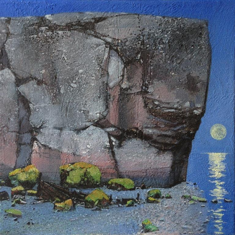 Fullmåne Akrylmaleri 40x40 cm 15000 mr