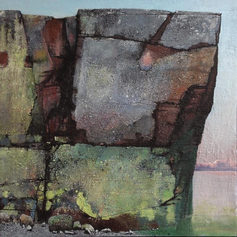 Sommerkveld Akrylmaleri 100x100 cm 50000 mr