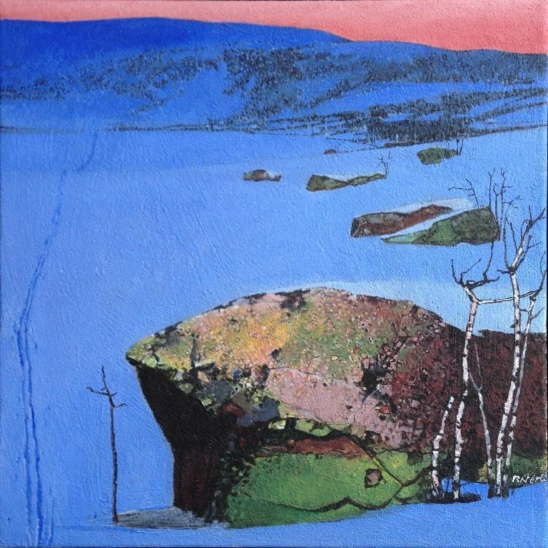 Spor i snø I Akrylmaleri 50x50 cm 20000 mr