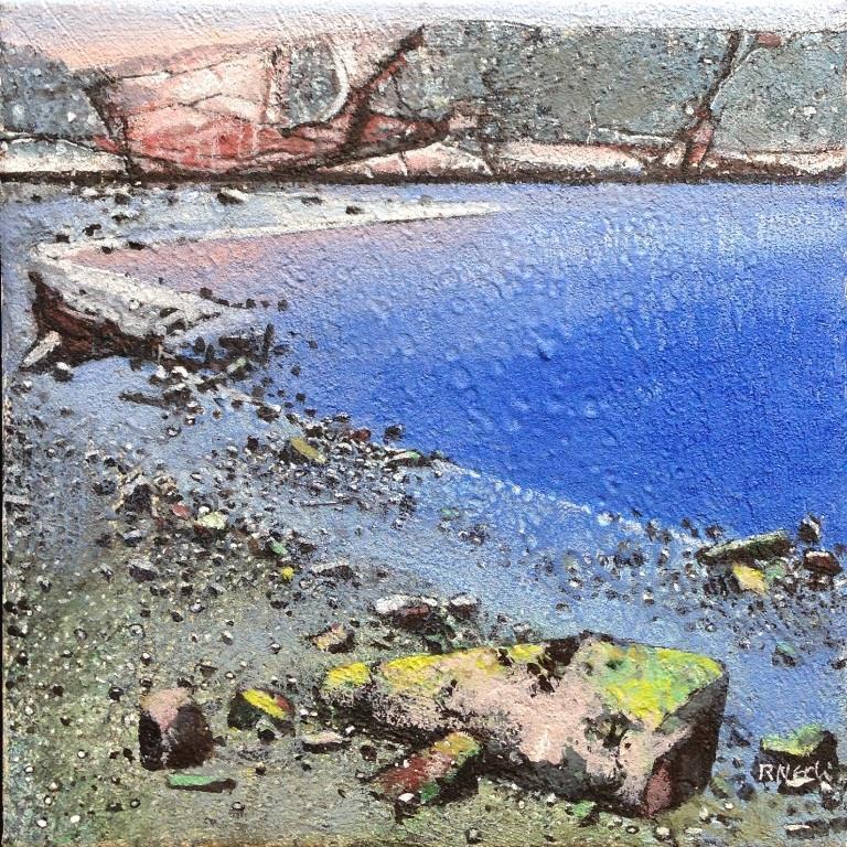 Stille bukt Akrylmaleri 27x27 cm 10000 mr