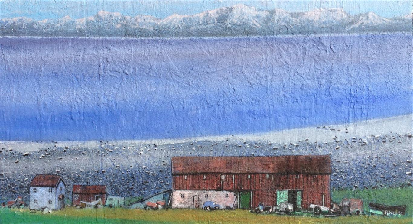 Ut mot havet Akrylmaleri 40x72 cm 18000 mr