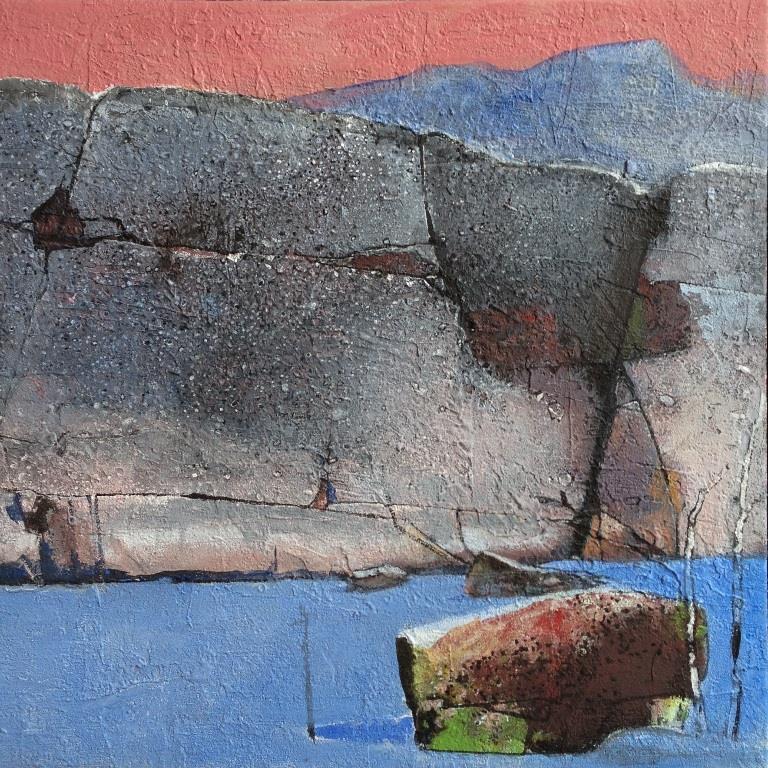 Vinterkveld Akrylmaleri 50x50 cm 20000 mr