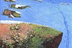 Spor i snø II Akrylmaleri 33x24 cm 12000 mr