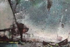 Strandet I Akrylmaleri 70x60 cm 24000 mr