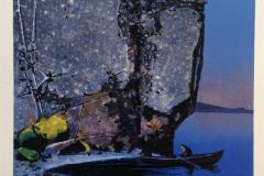 Uti natten Litografi 24x24 cm 3000 mr