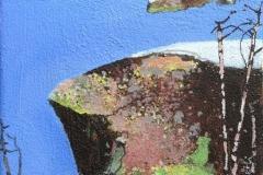 Vinterkveld Akrylmaleri 27x22 cm 9000 mr