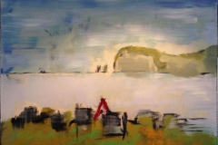 Fjorden Akrylmaleri 60x80 cm 4000 ur