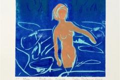 Badende kvinne Tresnitt Variant 2 (16x16 cm) kr 700 ur
