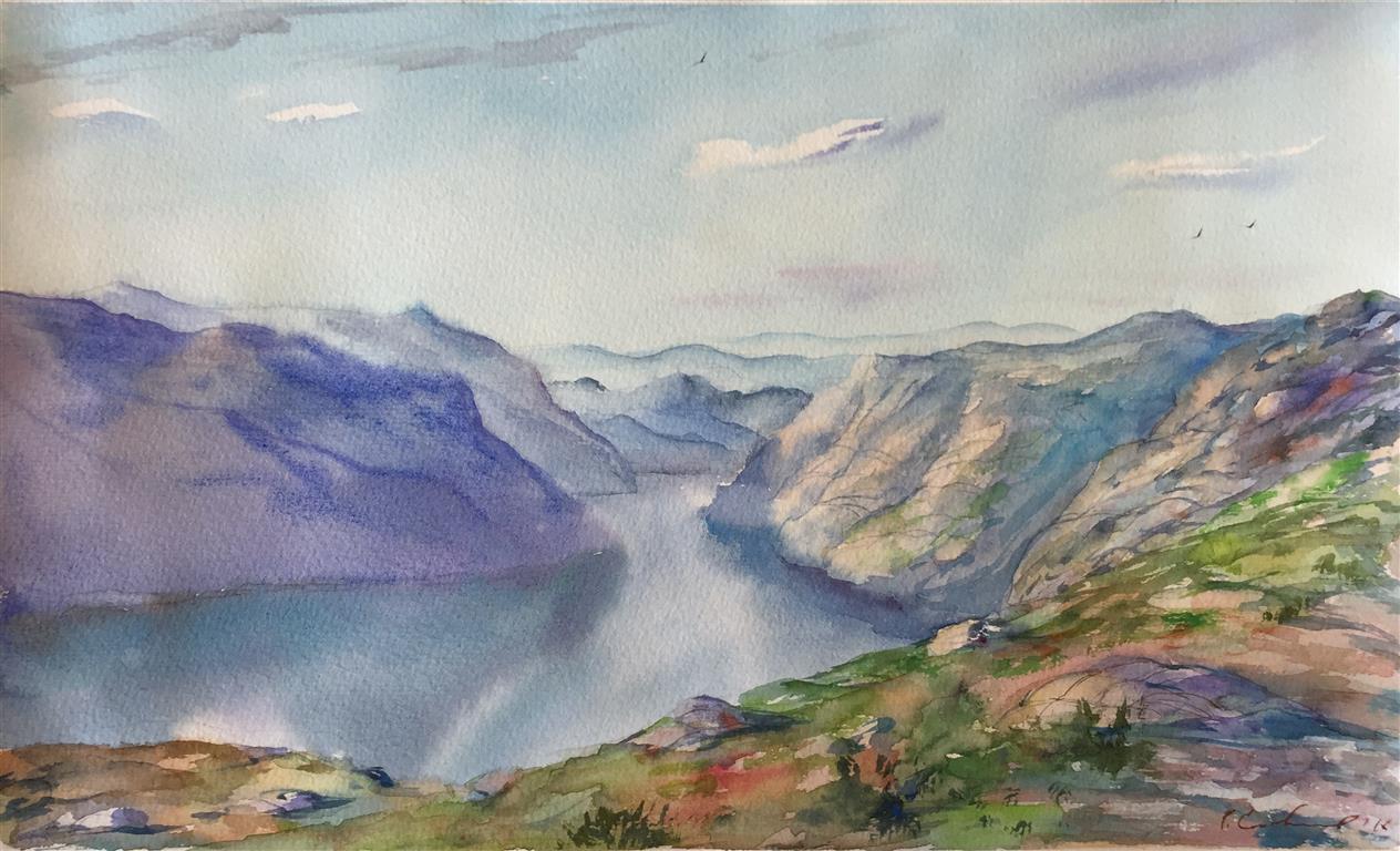 Ryfylke V. Akvarell (39x24,5 cm) kr 1200 ur