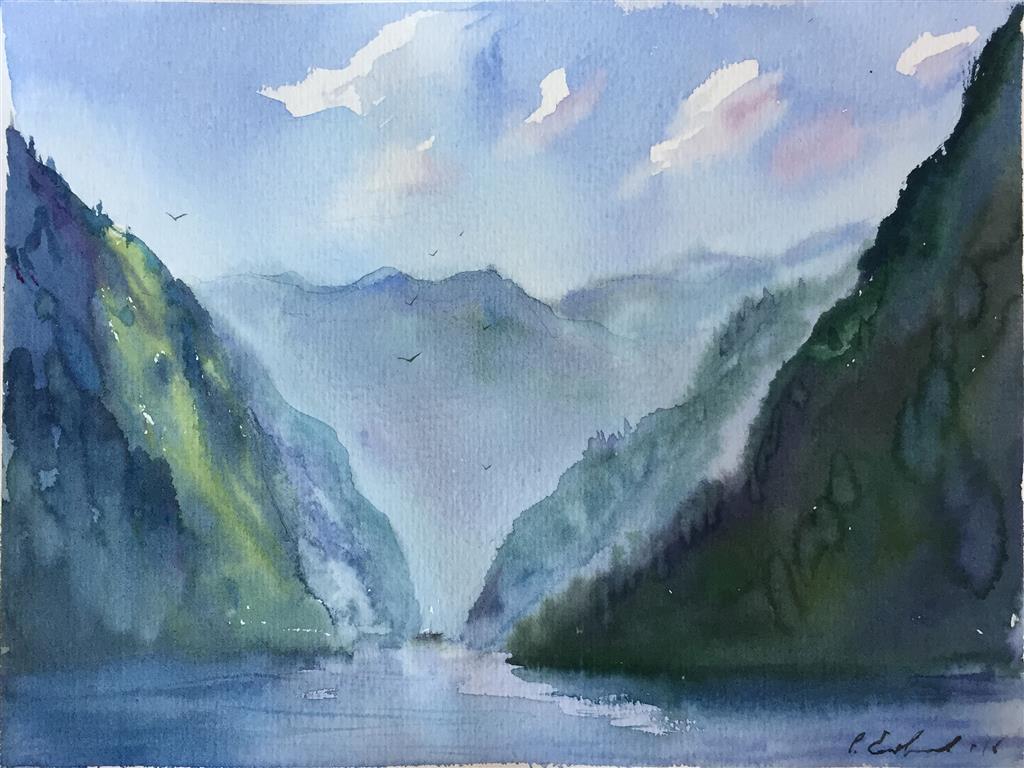 Suldal. Akvarell (24,5x18 cm) kr 700 ur