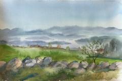 Jæren. Akvarell (36x24,5 cm) kr 1100 ur