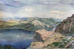 Preikestolen III. Akvarell (39x24,5 cm) kr 1200 ur