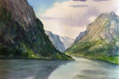 Ryfylke I. Akvarell (33x24,5 cm) kr 1000 ur