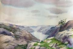 Ryfylke III. Akvarell (30x24,5 cm) kr 900 ur