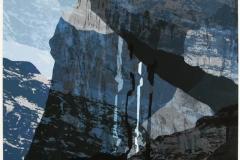 Fjellside Digital blandingsteknikk 37,5x37,5 cm 2300 ur