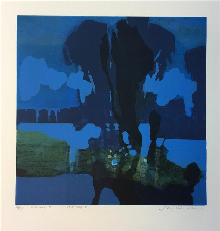 Blå time II Litografi (33x33 cm) kr 3300 ur