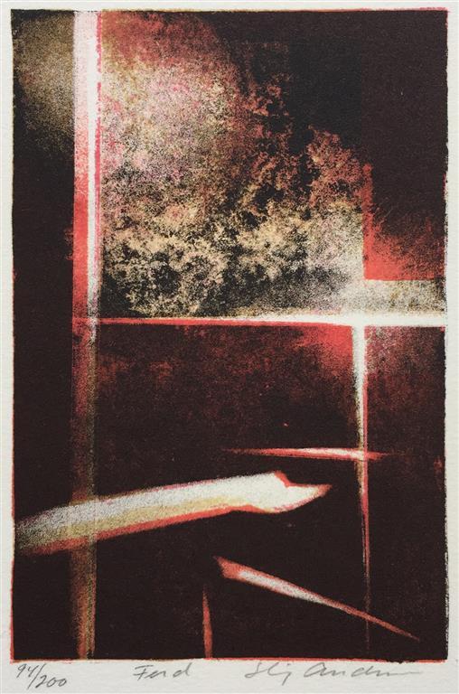 Ferd Litografi (15x10 cm) kr 600 ur