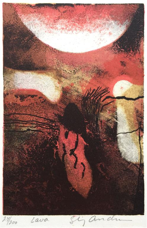 Lava Litografi (15x10 cm) kr 600 ur
