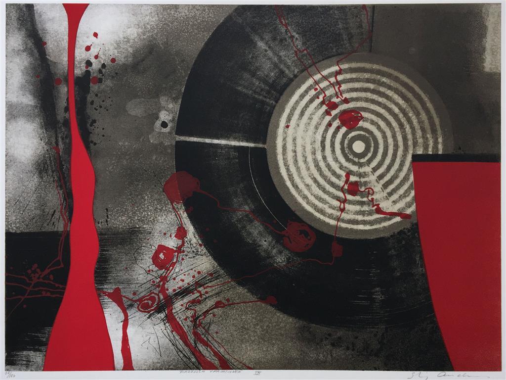 Piazzolla variasjon IX Litografi (45x61 cm) kr 3800 ur
