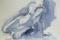 A sitting nude Akvarell 21,5x28 cm 1000 ur