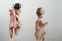 Aktstudie Akvarell 28x38 cm 3200 ur