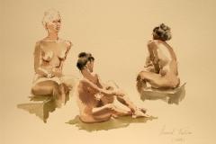 Aktstudier I Akvarell 28x38 cm 4100 ur
