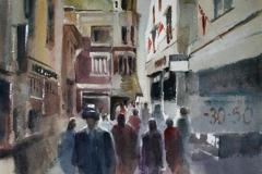 Arnageren Akvarell 28x38 cm 3200 ur