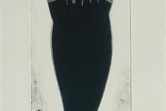 Kvinne med hatt No 46 Monotypi (66x15 cm) kr 3500