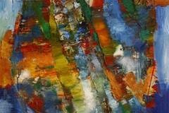 Earthforce Jazz Oljemaleri 120x100 cm 30000 ur