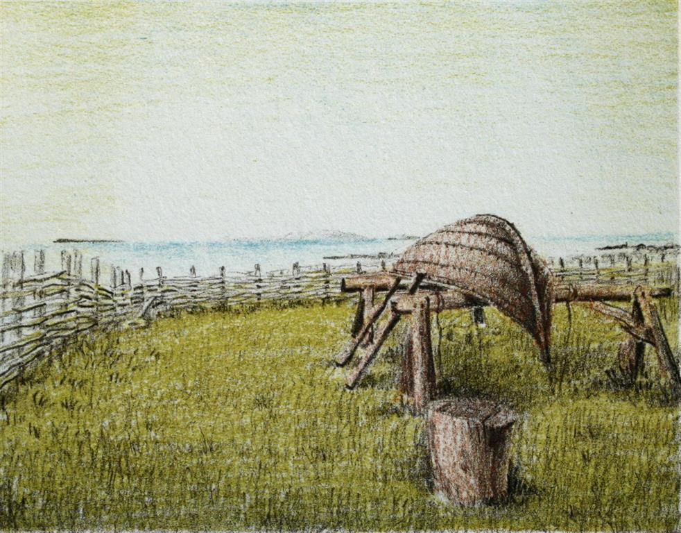 L`Anse aux Meadows Litografi 11x14 cm 400 ur