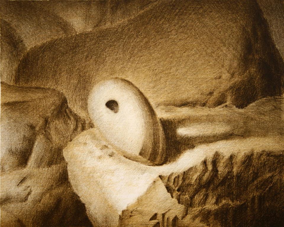 Steinalderoeks Litografi 22x27,5 cm 900 ur